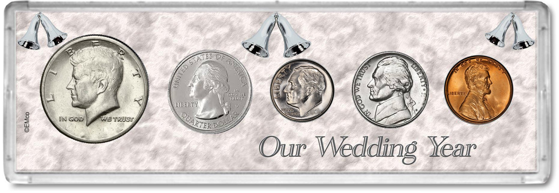 2002 Year Coin Set : 17th Anniversary Gift - Our Wedding Year