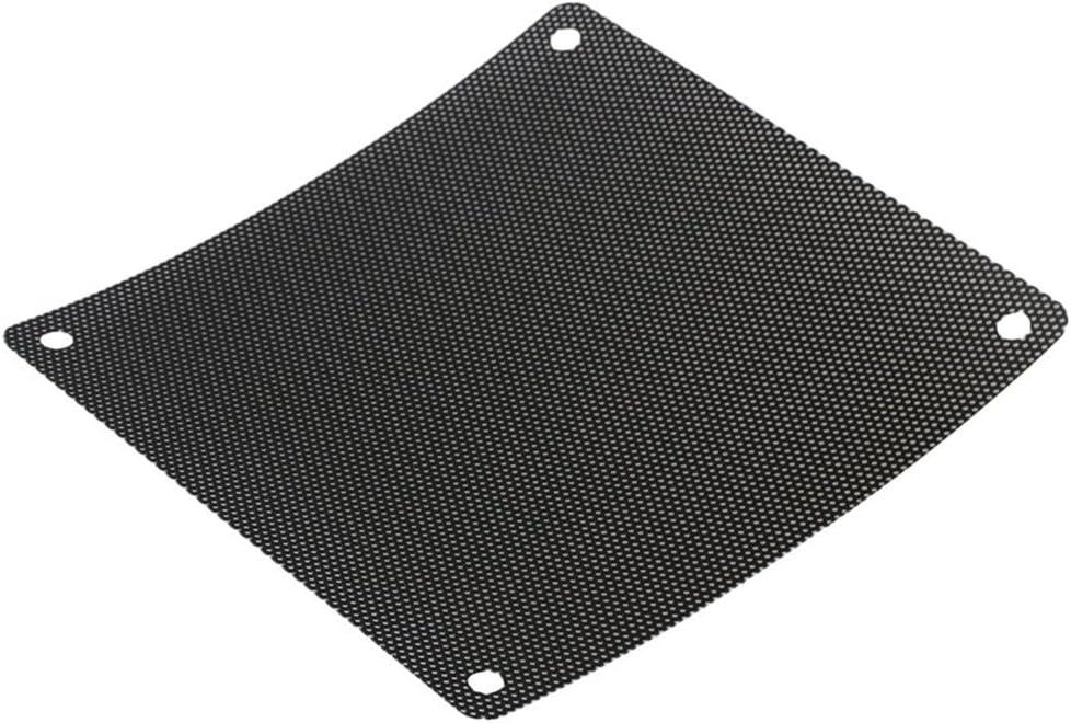 120mm PVC PC Cooler Fan Dust Filter Dustproof Case Cover for Computer Uonlytech Computer Fan Filter 10Pcs, Black