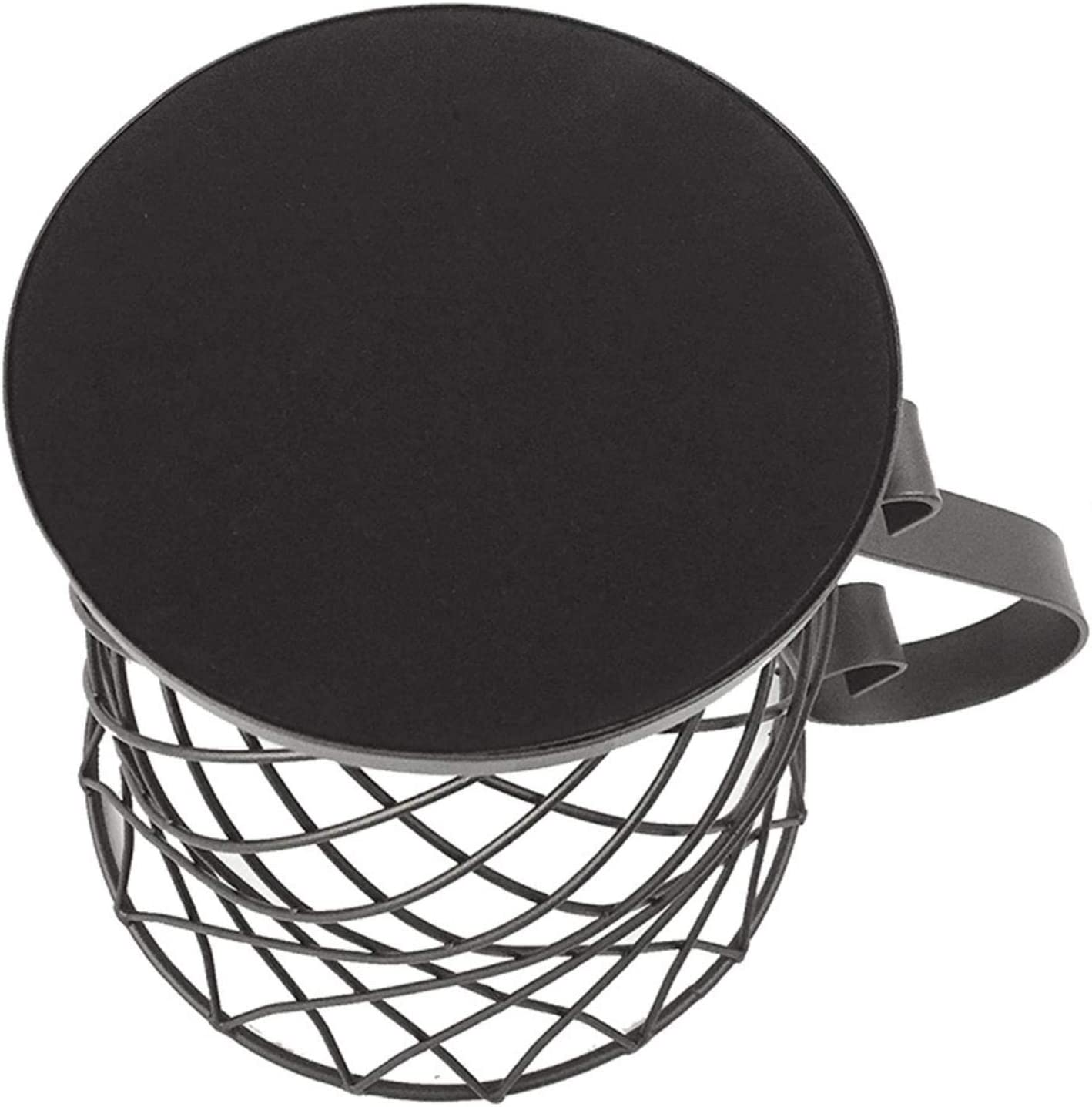 Porta cialda di caff/è alla moda semplice in stile europeo Cesto portaoggetti in acciaio resistente Tazza Tazza da caff/è Cesto di frutta Cesto di snack