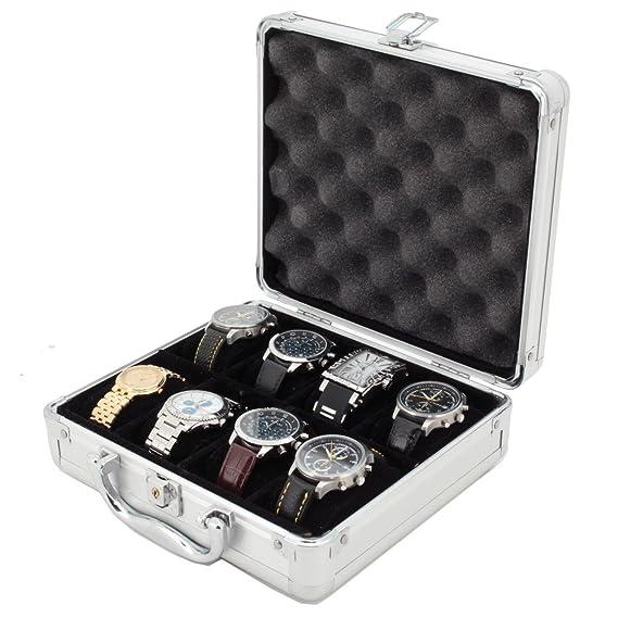 8 reloj caso para coleccionistas maletín tienda Segura mango de aluminio: Amazon.es: Relojes