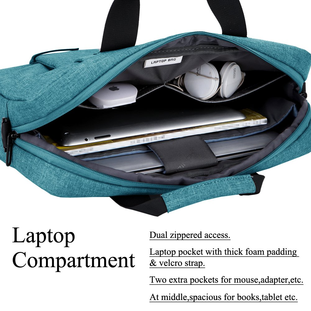 ... Laptop Messenger Shoulder Bag Case Briefcase for 13-13.3 Inch Laptop/Notebook/MacBook/Ultrabook/Chromebook Computers (Blue): Computers & Accessories