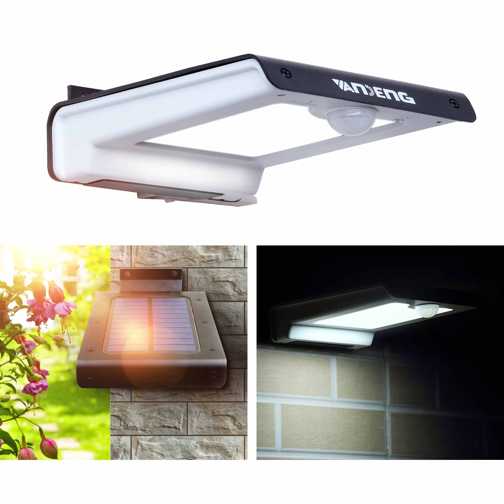 Solar Lights Outdoor,Vandeng Super Bright 32 LED Solar Powered Motion Sensor Waterproof Security Wall Lamp for Pathway Porch Patio Garden Step Pond