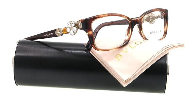 cf7d929f99 Bvlgari Eyeglasses BV 4058B HAVANA 5218 BV4058 51MM  Amazon.co.uk  Clothing