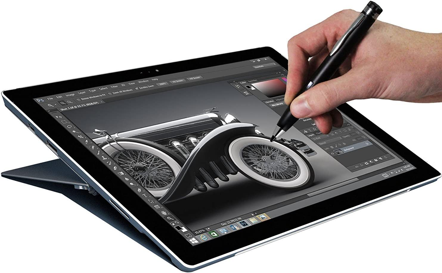 Navitech Broonel Silver Fine Point Digital Active Stylus Pen Compatible with The TOPELOTEK 7 Inch Tablet PC