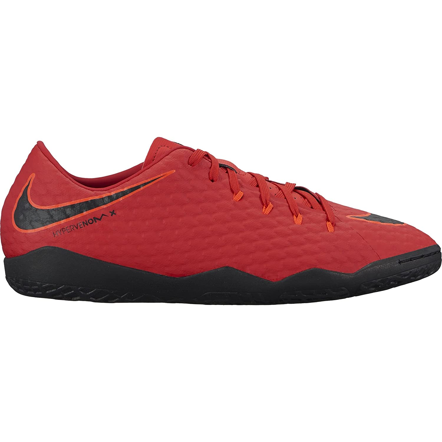 30372d7fd28c Amazon.com | Nike Mens Hypervenomx Phelon III IC Indoor Soccer Shoes  (University RED/Black) (Synthetic, 12) | Soccer