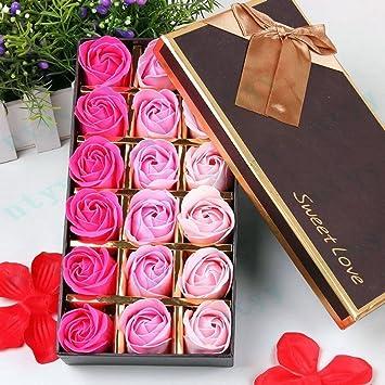 FunRun 18 Piezas Rose Jabones Perfumados en Caja de Regalo, regalo ...