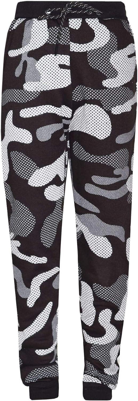 Boys Contrast Camouflage Print Tracksuit Sweat Top /& Jogging Track Bottoms Set