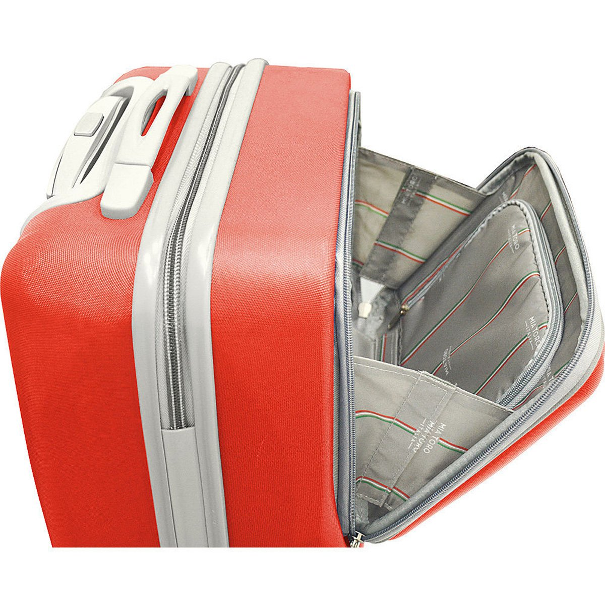 The Set of Classic Silver Mezza Tasca 3 Piece Hardside Spinner Luggage Set