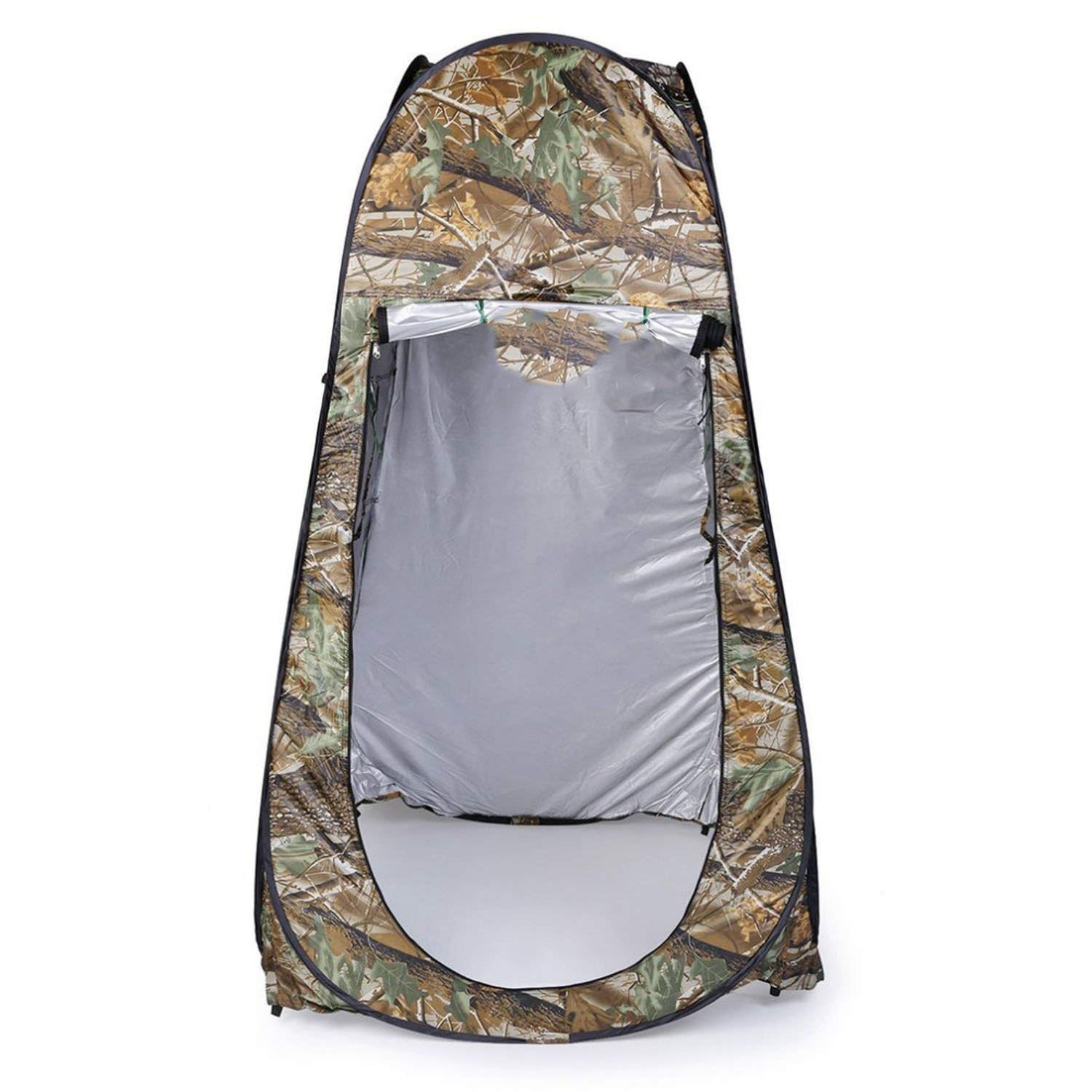 DESIRE DESTINATION Outdoor Pop Up Camouflage Tent 180T Camping Shower Bathroom Privacy Toilet Changing Room Shelter Single Moving Folding Tents by DESIRE DESTINATION