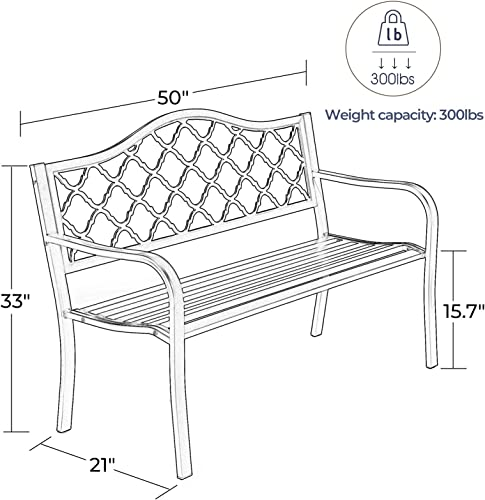Laurel Canyon 50″ Outdoor Patio Bench