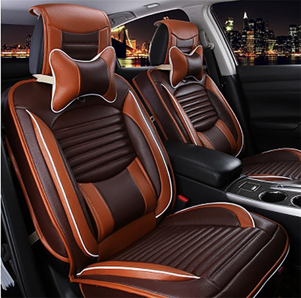 Programmable luxury leather seat covers car seats 5 Overall universal fit easy to clean anti-slip Four Seasons Car Seat Cushion
