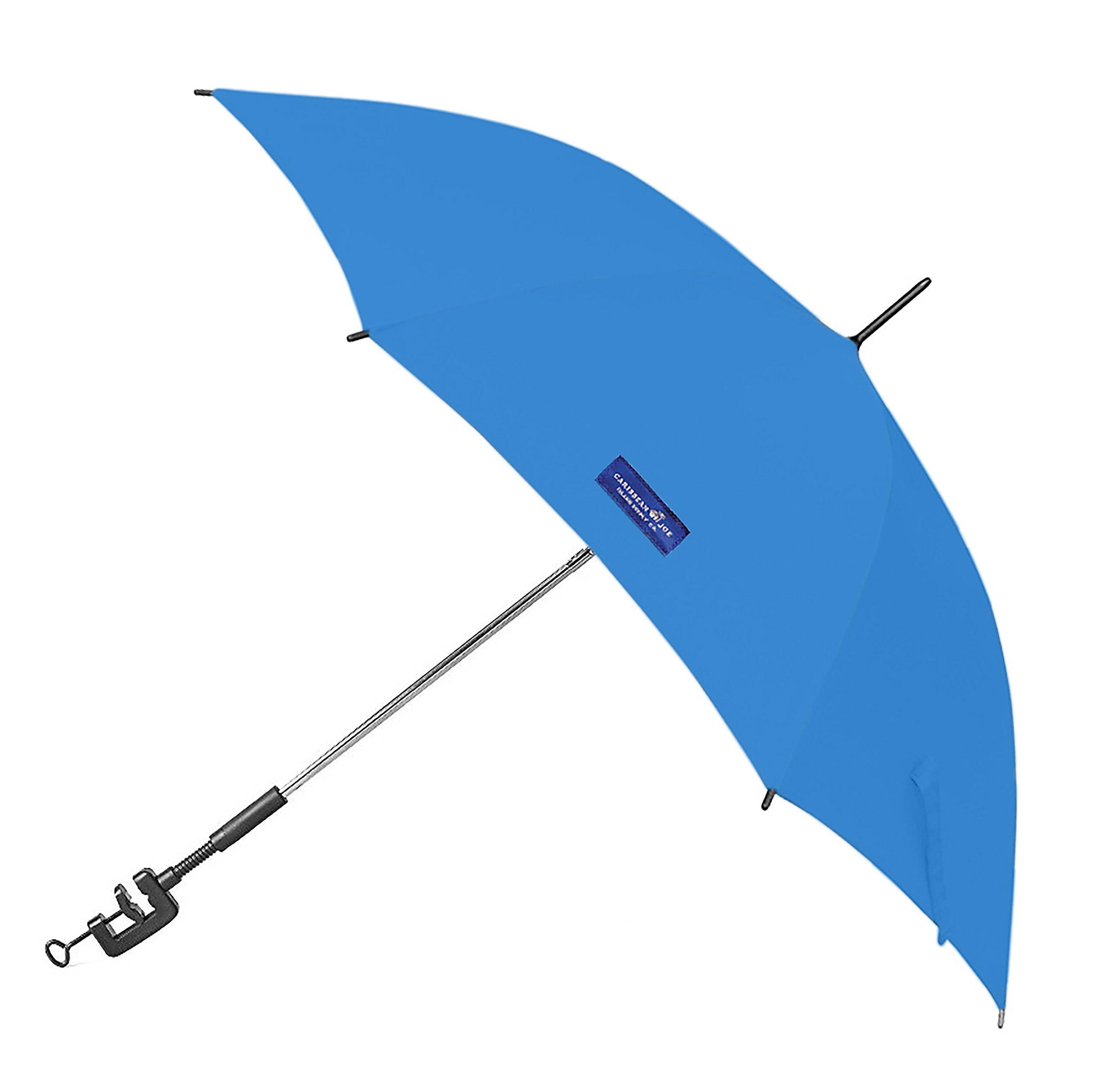 Caribbean Joe Clamp on Beach Umbrella with UV Protection, Blue, 48'' by Caribbean Joe