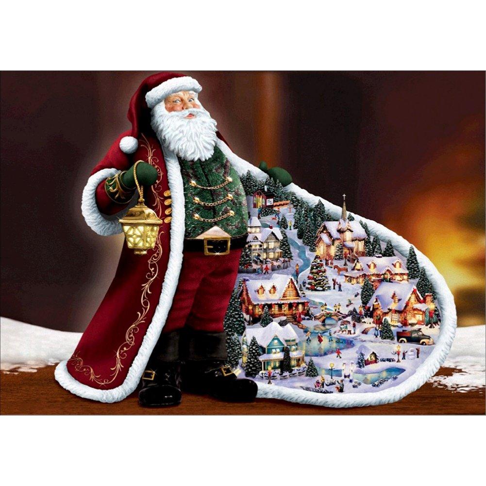 Rebuty 5D DIY handgefertigtes Merry Christmas Nacht Stickerei ...