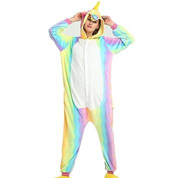 misslight Flanela Unicornio Cosplay Pijamas Animal Novedad Carnaval Disfraz Halloween Juguetes y Juegos Navidad Pijamas Adultos
