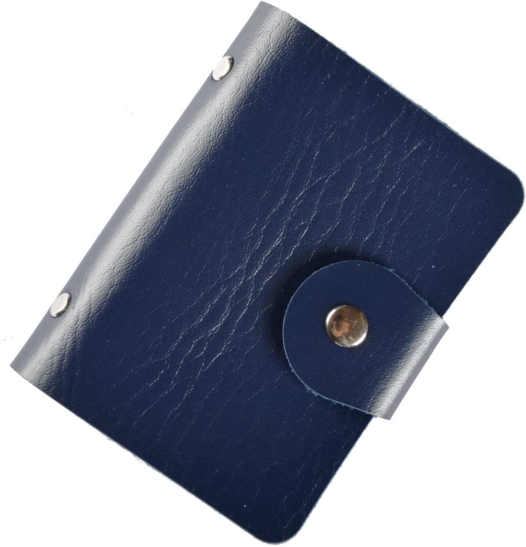 Tarjetero para Carn/é de Identidad Brilliance Co Tarjetero para Tarjetas de Cr/édito Almacenamiento de Tarjetas Azul Oscuro Azul Oscuro 24 Tarjetas