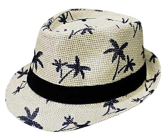 CLUB CUBANA Cappelli Fedora per Uomo Donne Cappello Unisex Capello Floscio  Stile Panama Estate Spiaggia Sole Jazz Bianco  Amazon.it  Abbigliamento 1a5b55c70497