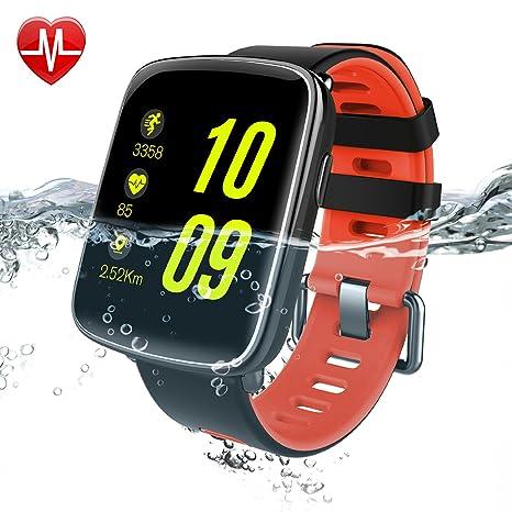 Willful SW018 Reloj inteligente para iPhone y Android, impermeable (IP68), para actividad deportiva (con medidor de ...