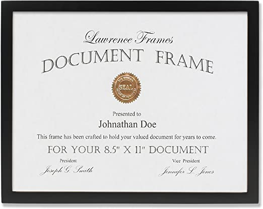Document Picture Frame 6 Pack Certificate Photo Photograph Wall Display Gallery