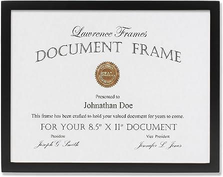 25 PK Value U-Channel Document Frame w//Certificates 8 1//2 x 11 Black