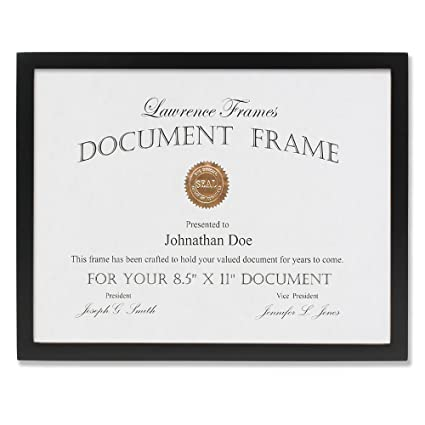 Amazon.com - Lawrence Frames Black Wood Certificate Picture Frame ...
