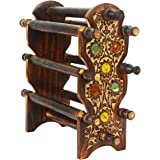 Craftland Handmade Wooden Bangle Holder Jewellery Stand For Women Carving 12 Inches