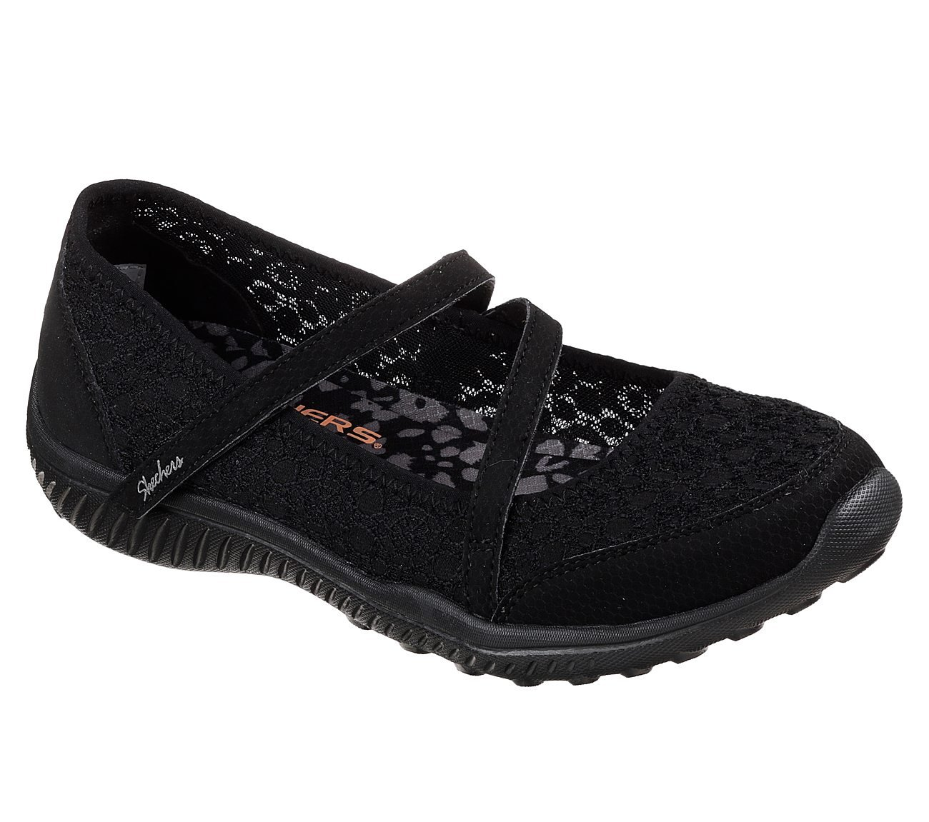 Skechers Be-Light Florescent Womens Mary Jane Sneakers B07DNGSXLY 5.5 B(M) US|Black