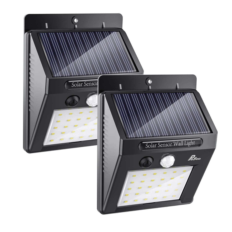 Lámpara Solar para Exterior, Luz LED. Para Jardín y escalera