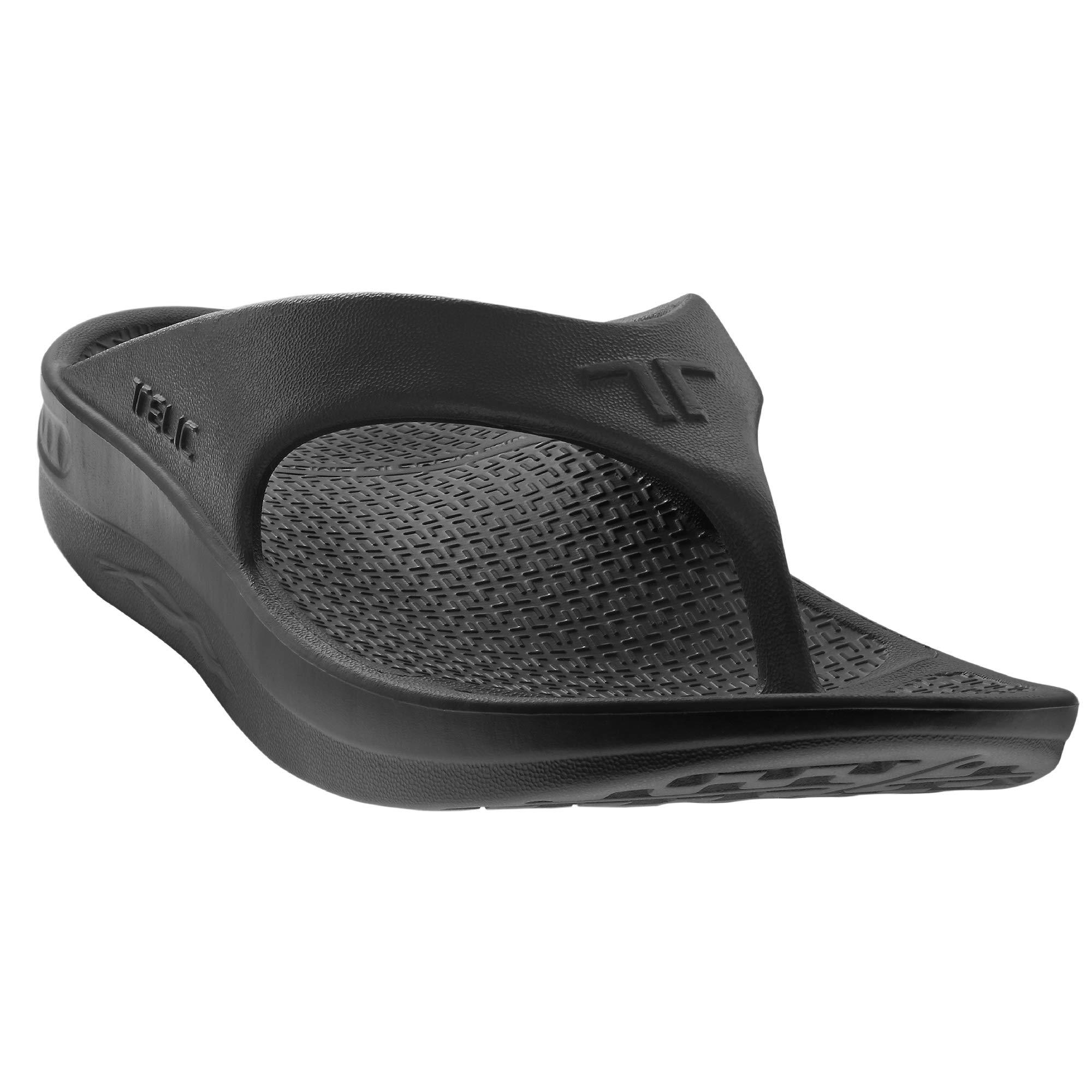 Telic Flip Flop Soft Sandal Shoe Footwear Color Midnight Black (S) by Telic