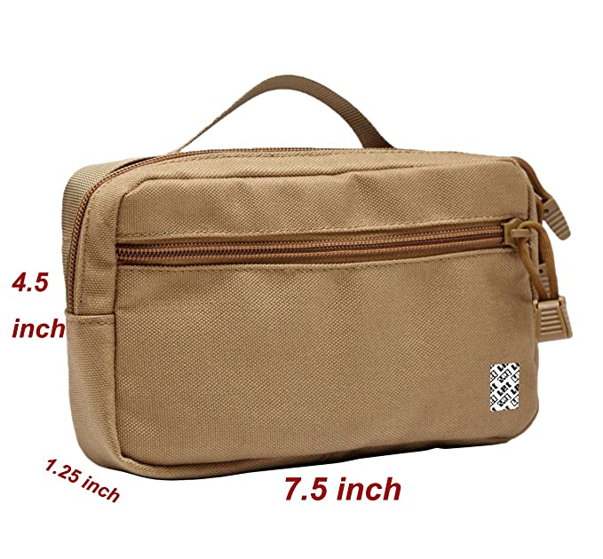 df7af6fc6e55 LefRight Compact Water-resistant Multi-purpose Molle EDC Utility Gadget  Tool Hanging Bag Small (Khaki)