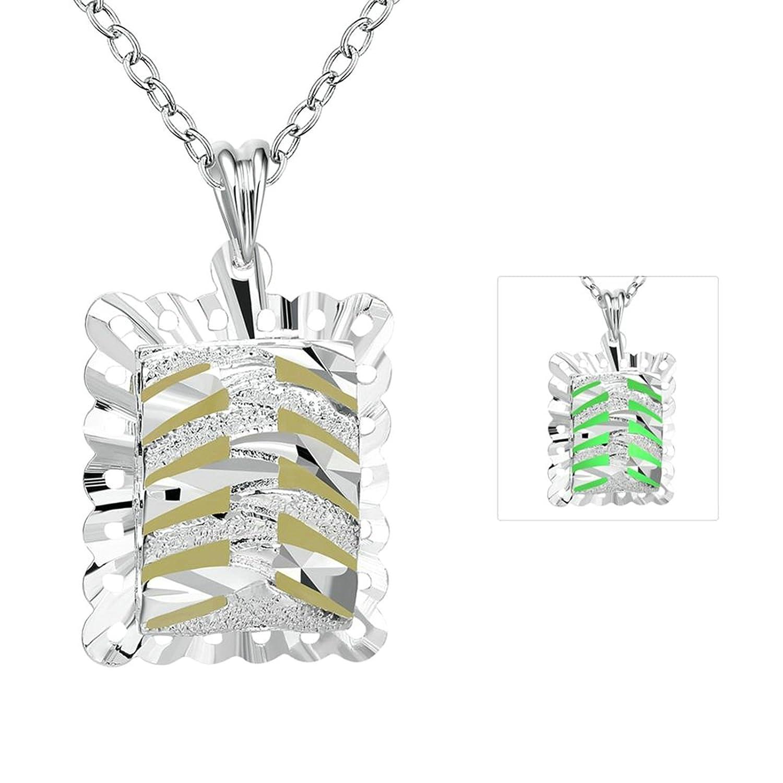 Aooaz Hollow Heart Square Pendant Necklaces Wedding Men Women Pendant Necklace