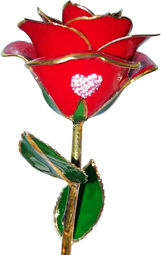 Romantic 24K Dipped Flower Gold Plated Rose LED Valentine/'s Day Anniversary Gift