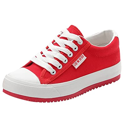 a6b91b4437e1 Oasap Women s Casual Low Top Flat Platform Sneakers