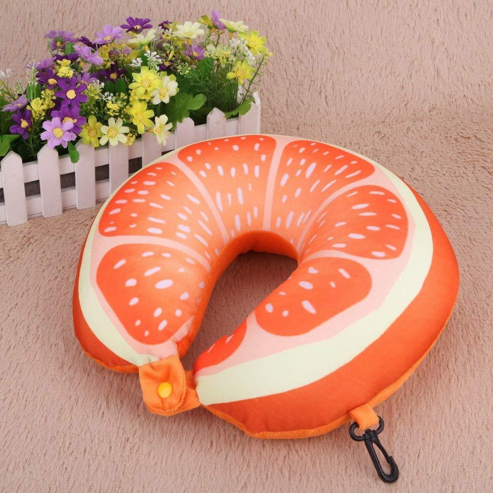 Neck Travel Pillow Fruit Pillow Cartoon Red Watermelon