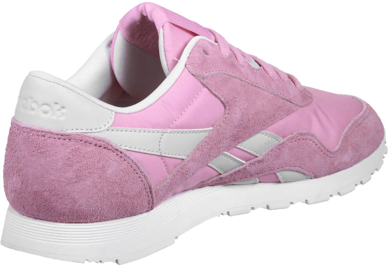 Reebok Cl Nylon Slim Hv, Sneakers para Mujer 37 EU|Rosa Blanco