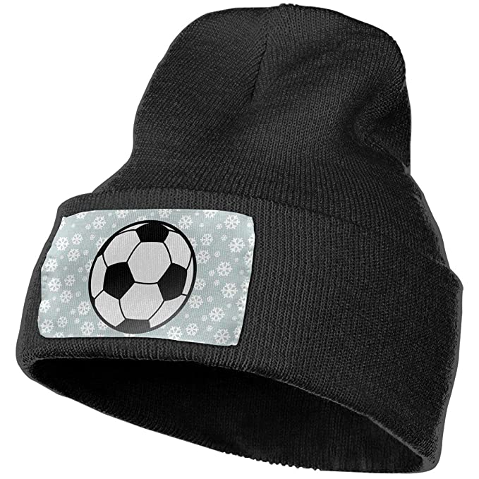 f2916eb73d9 Soccer Ball Women and Men Skull Caps Winter Warm Stretchy Knit Beanie Hats