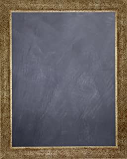 framed chalkboard 24 x 36 with antique silver finish frame