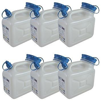 6 x 5 frascos de bidón 5 litros por - Juego de 6 Alimentos Bidón agua 5 litros: Amazon.es: Jardín