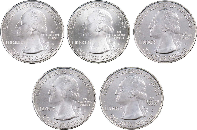 2015 P/&D Homestead National Park Quarter Dollar Coin Set