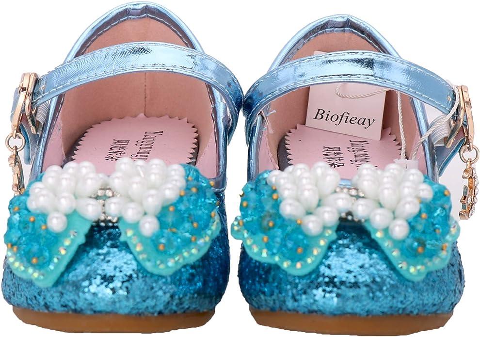 Biofieay M/ädchen Schuhe Prinzessin Glitzer Partei Sandalen Kinder Kleid Absatzschuhe Pumps