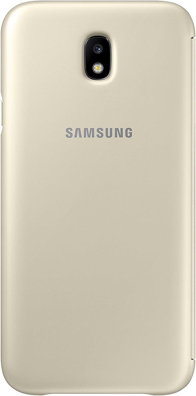 SAMSUNG Wallet Cover - Funda con Tapa Galaxy J7 2017, Color Dorado: Amazon.es: Electrónica
