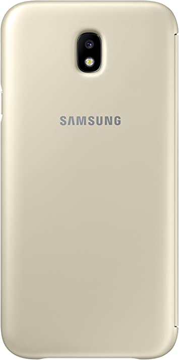 SAMSUNG Wallet Cover - Funda con Tapa Galaxy J7 2017, Color Dorado ...
