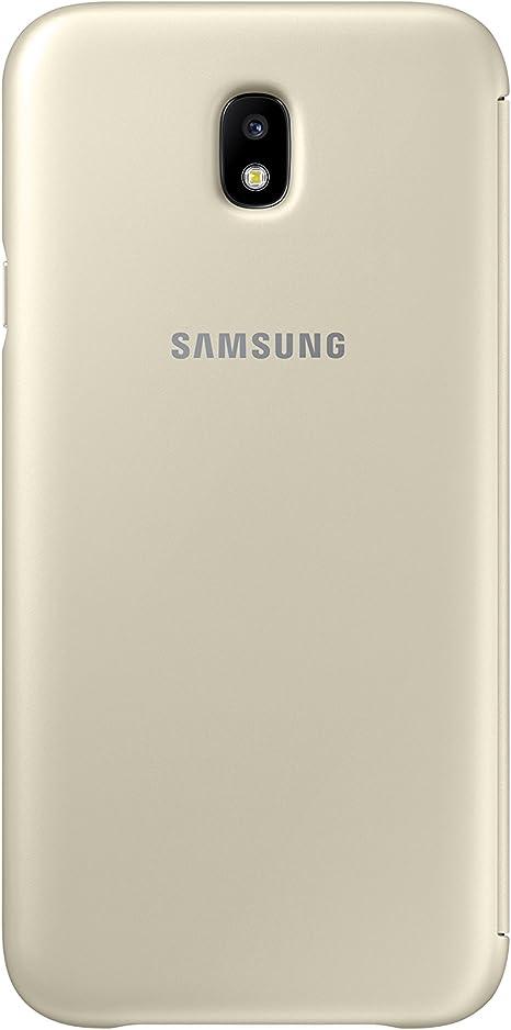 SAMSUNG Wallet Cover - Funda con Tapa Galaxy J7 2017, Color Dorado ...
