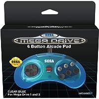 Mindscape 262736 Retro-Bit Sega Mega Rit 6-Knops Klassiek Controleur, Helder Blauw ()