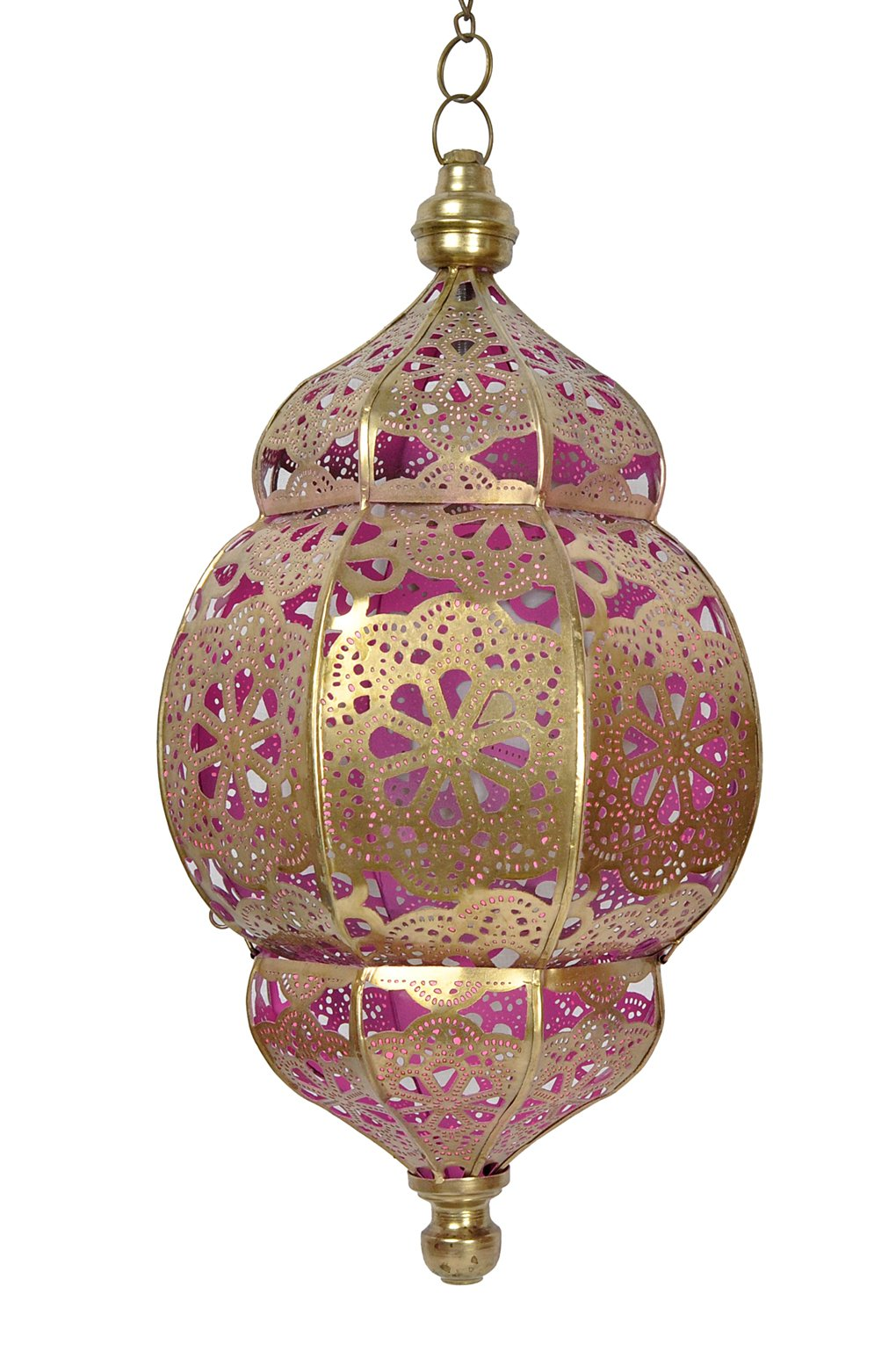 Morrocan Lamps Hanging Christmas Home Decorations Pink by Lalhaveli
