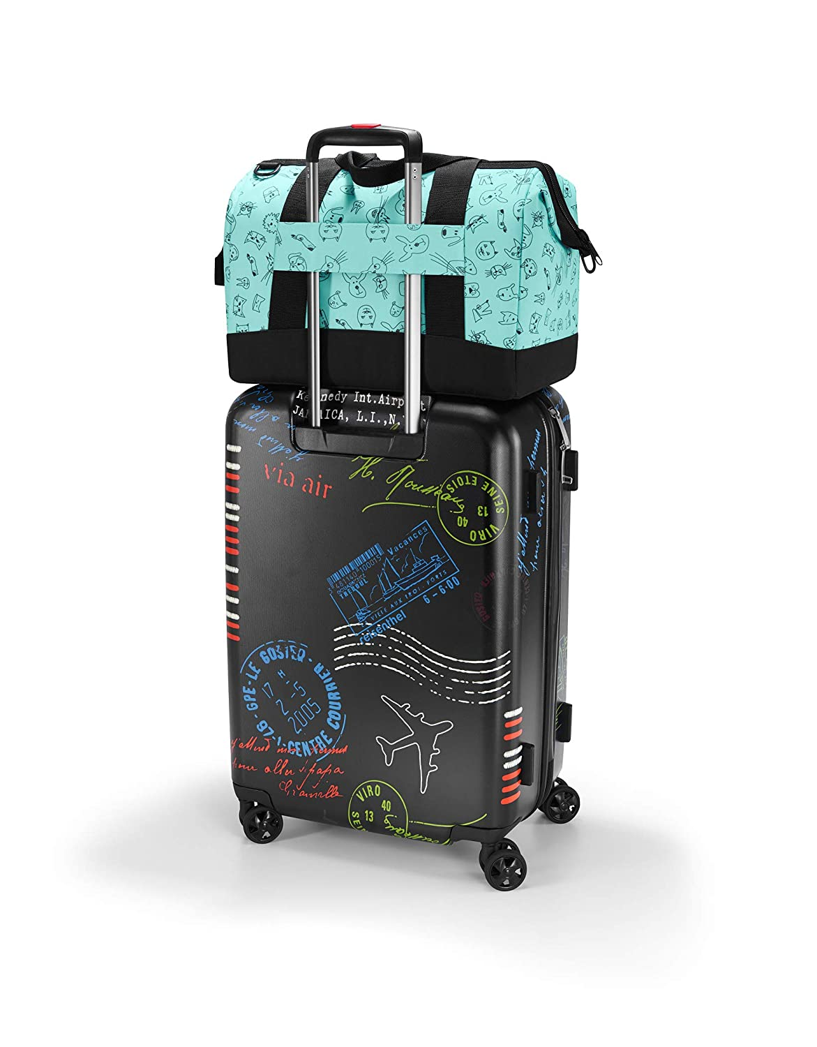 Reisenthel Allrounder M Kids Cats and Dogs Mint Childrens Luggage Mint Blue 18 liters 40 cm