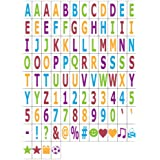 MagiGlow 100 Pastel Colour Letters, Numbers & Symbols for Use with Cinematic Light BOXES, Plastic,