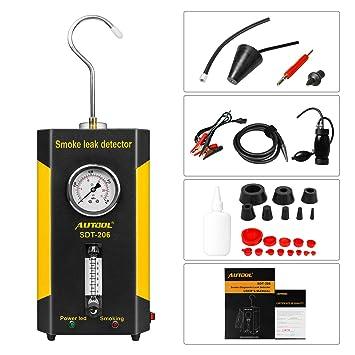 Autool Fuga de Tubería Detector Coche, EVAP Maquina de Humo 12v Detectores de Fugas de