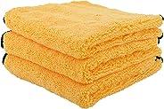 Chemical Guys MIC_506_03 Professional Grade Premium Microfiber Towels, Gold (16 in. x 16 in.) (Pack of 3)