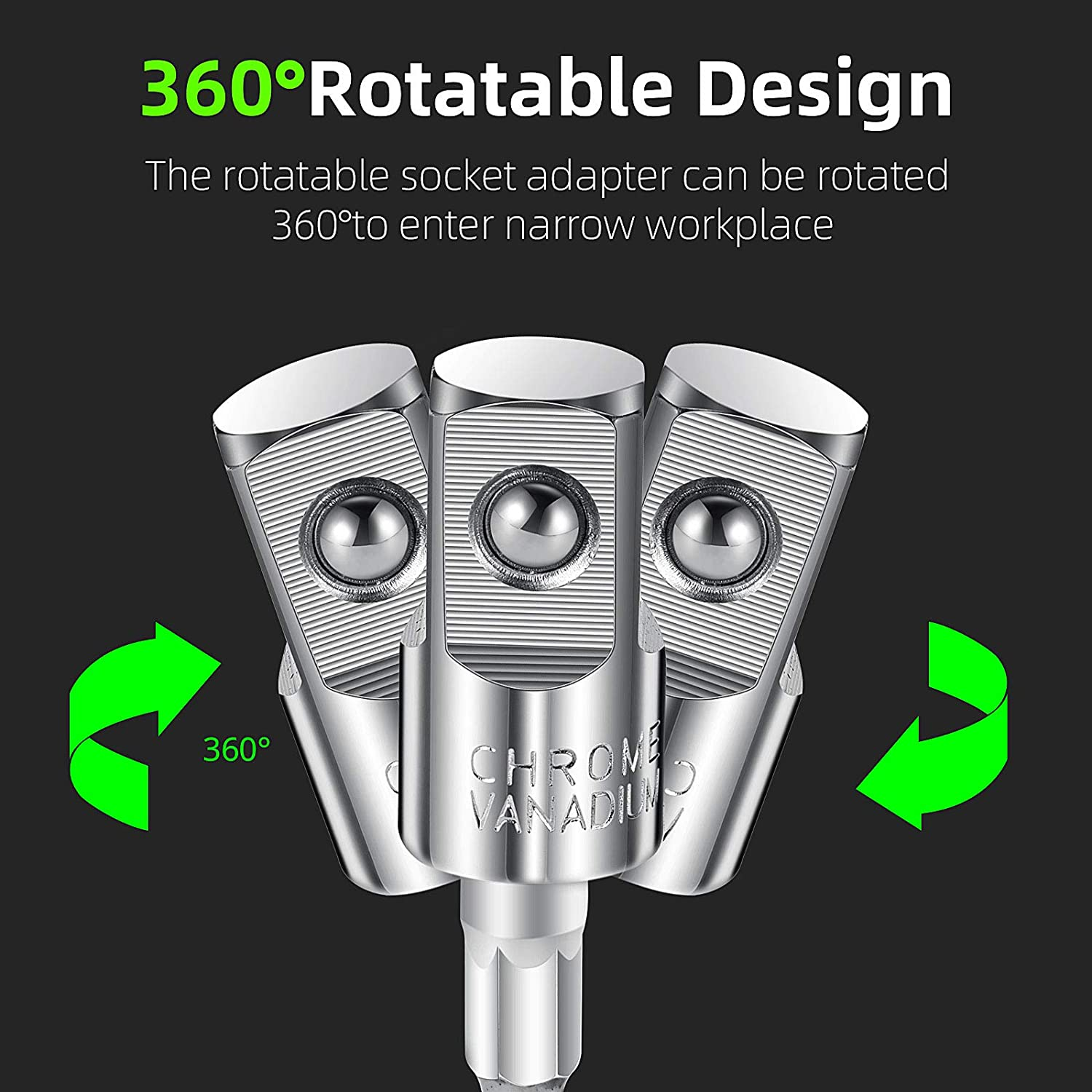 6 Pieces Power Drill Sockets Adapter Set Impact Driver Adapter 360 Degree Rotatable Hex Shank Impact Driver Socket Adapter Socket to Drill Adapter 1//4 Inch 3//8 Inch 1//2 Inch