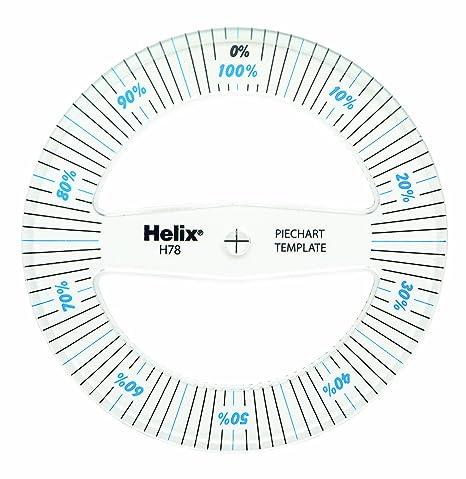 Amazon Com Helix 360 Pie Chart Measure 08781 Paper Templates